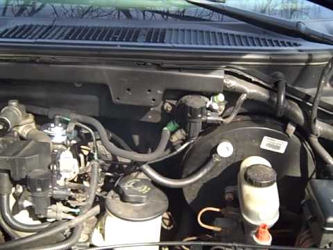 ford 4 6l engine diagram cub cadet belt replacement 1998 f150 4.6l with clogged cat - youtube