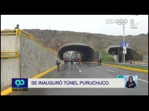 Se inauguró túnel Puruchuco que beneficiará a 3 millones de personas