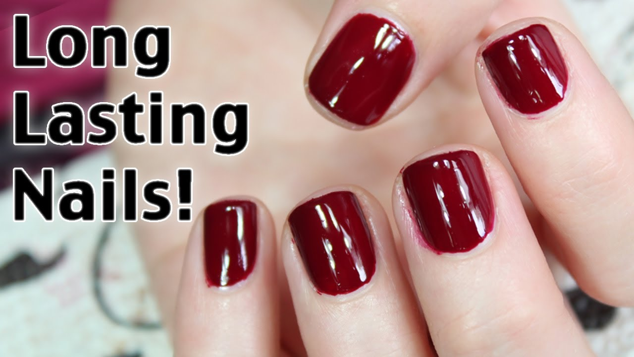 How to Get Long Lasting Nail Polish - YouTube