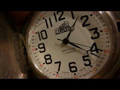 Vintage Railroad WESTCLOX F7 17 Jewels Swiss Made Pocket Watch