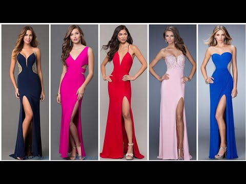 top stylish formal evening dresses long prom dresses side slit designing