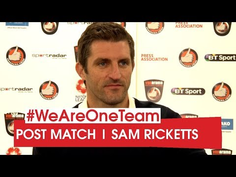 WATCH | Sam Ricketts after Gateshead