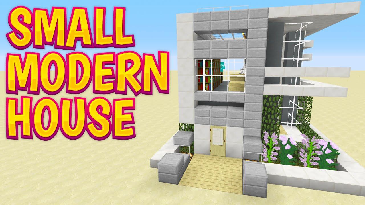Minecraft Design Showcase - Small Modern House - YouTube
