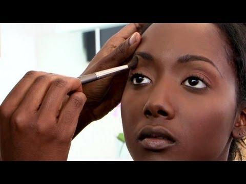 Natural makeup look for brown eyes