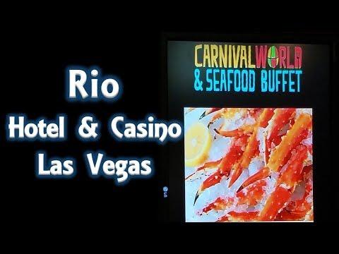Walking through Rio All-Suite Hotel and Casino Las Vegas..Brazilian theme