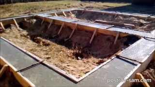 Ленточный фундамент под баню 6х6 м(Ленточный фундамент под баню 6х6 м своими руками. Делаем фундамент самостоятельно. На данном видео показан..., 2015-02-12T11:26:16.000Z)