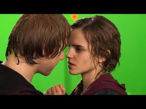 Поцелуй Рона и Гермионы как это было