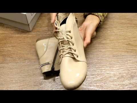Женские бежевые ботинки весенние vm-villomi.ua - YouTube