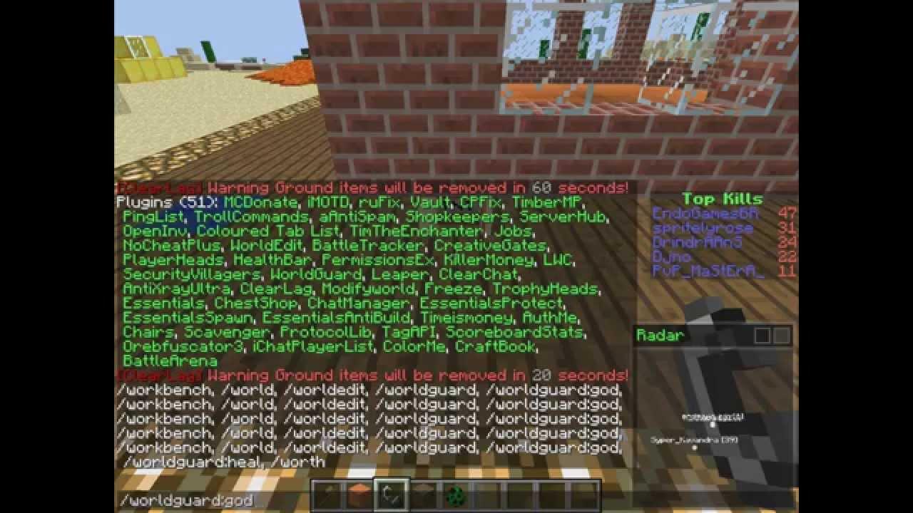 Сервера Майнкрафт с бесплатной админкой (gm1, hack ...