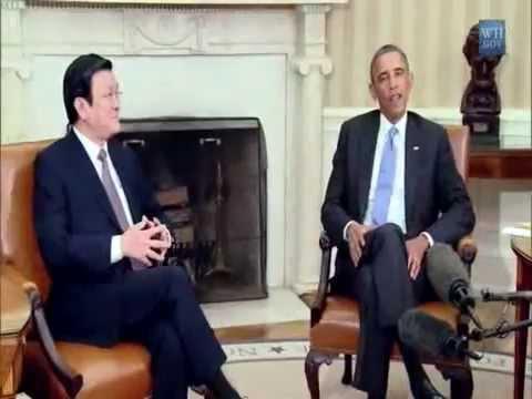 Chủ tịch Trương Tấn Sang qua Mỹ gặp Obama 25 7 2013