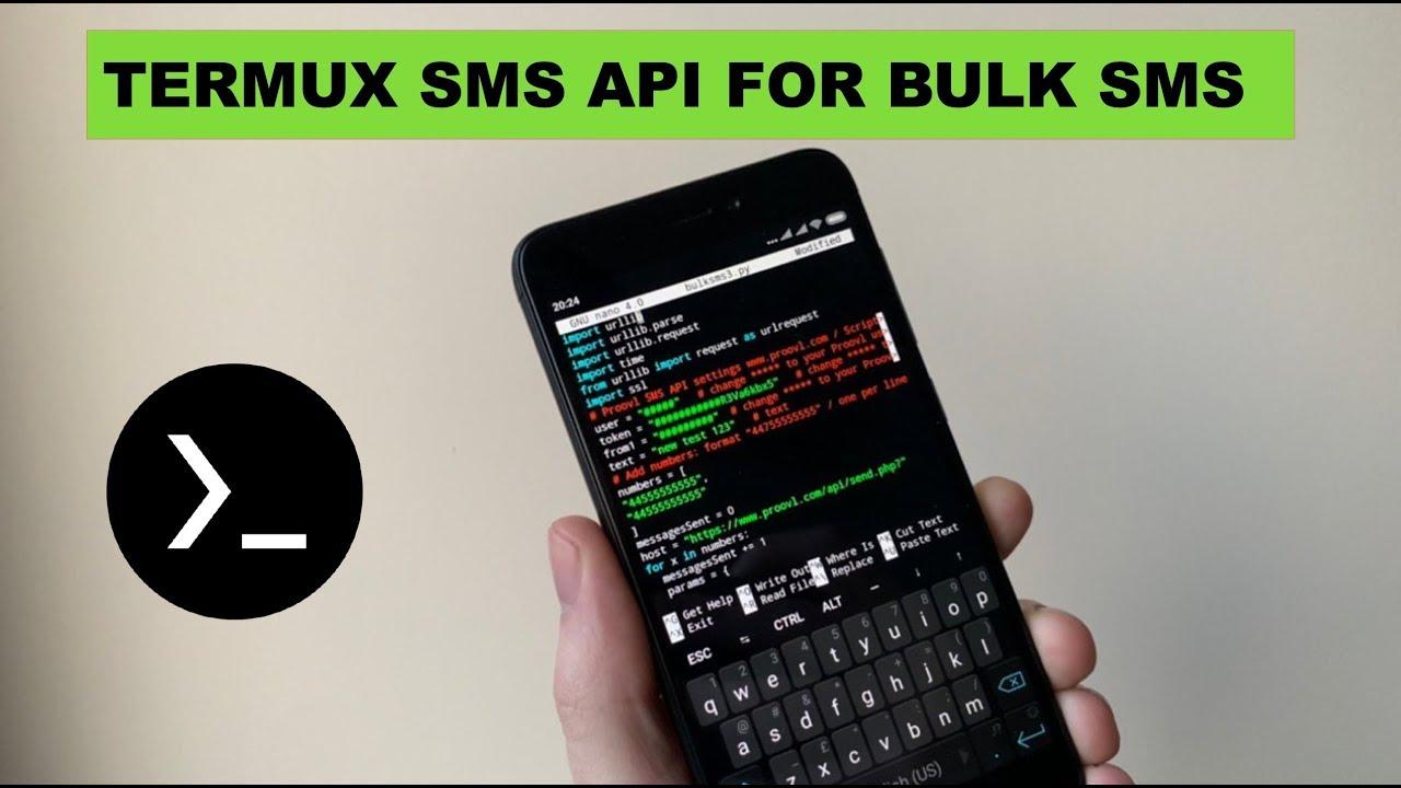 Termux SMS API for Bulk SMS