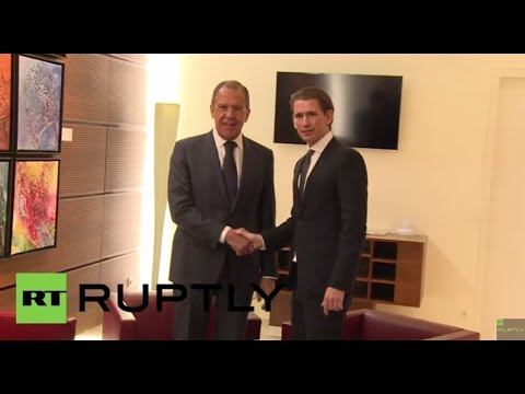 LIVE: Sergei Lavrov and Austrian FM Sebastian Kurz meet to discuss Ukraine - press statement