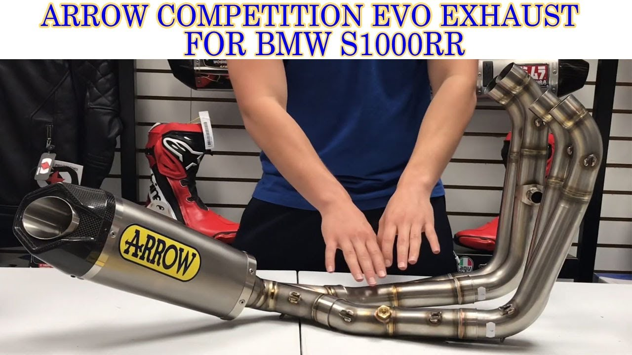 arrow competition evo exhaust for bmw s1000rr