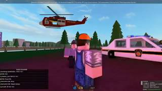 Mano Country () Fire Resecue Helicopter in action () ROBLOX