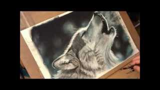 Fast drawing - Crying Wolf in soft pastel