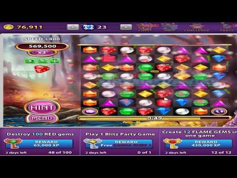 Bejeweled Blitz Splashberry with boosters