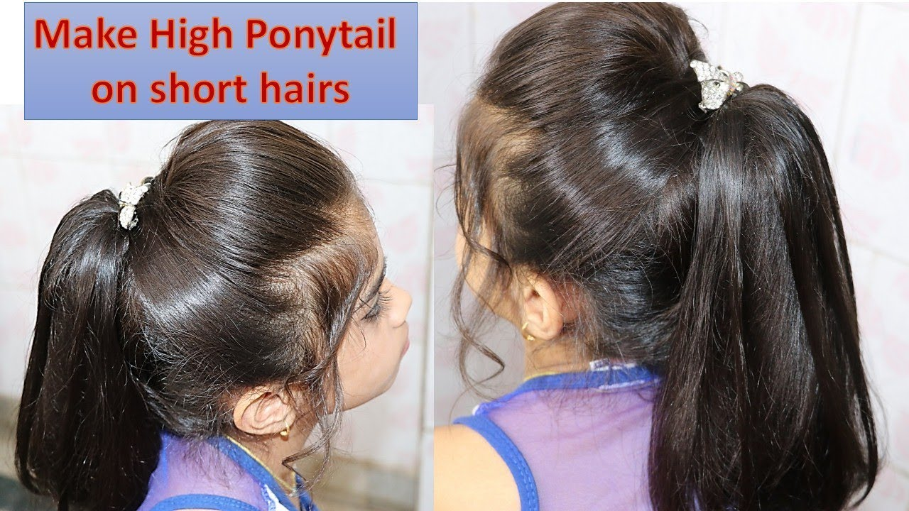 Make High Ponytail On Short Hairs Easy Step By Step Tutorial Easy To Make Awesome In Looks Youtube