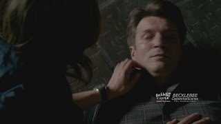 """Castle 7x06 """"Time of Our Lives"""" (closedcaptioned) Castle is Shot Beckett Recues Him Back Real World"""