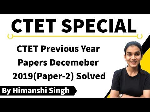 CTET Previous Papers Solved - December 2019 Paper-02   Child Development & Pedagogy