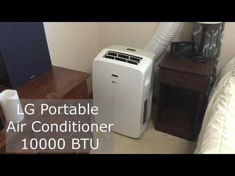 LG 10000 BTU Portable Air Conditioner Review - YouTube