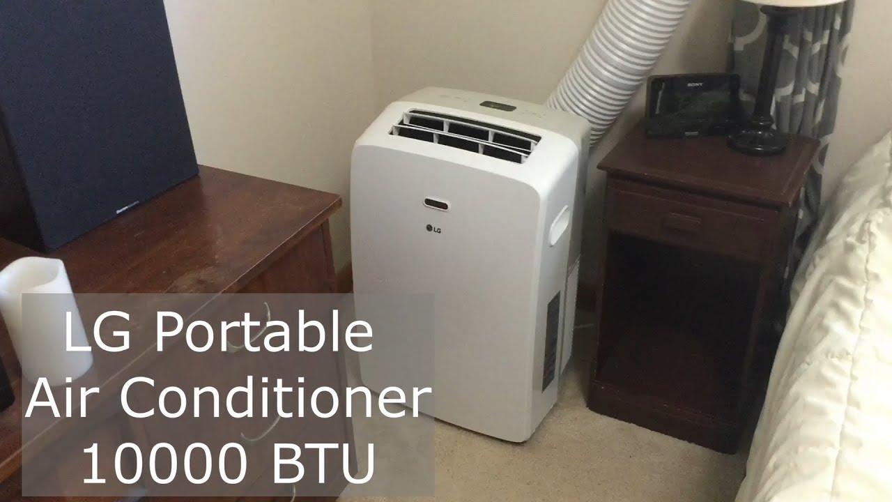 Lg 10000 Btu Portable Air Conditioner Review Youtube