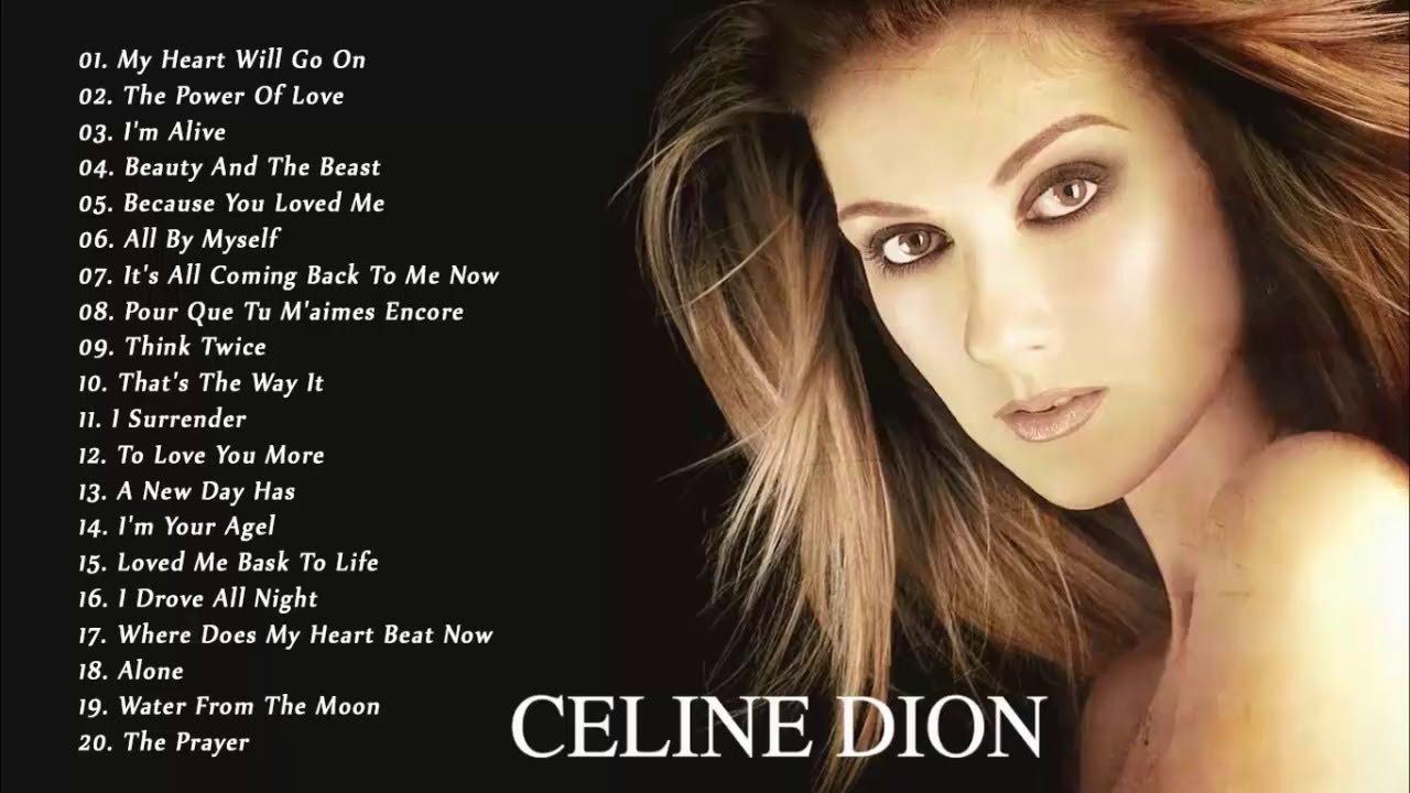 Celine Dion Grandes éxitos 2018 Celine Dion Mejores Canciones 2018 Youtube