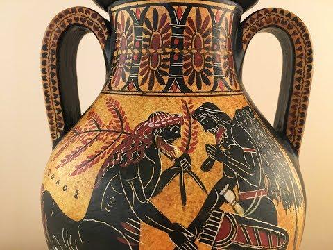 Ancient Greek Pottery - Handmade Vases - 360° VIDEO