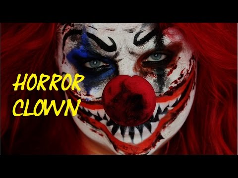 easy horror clown halloween make up tutorial einfach. Black Bedroom Furniture Sets. Home Design Ideas