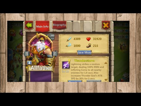 Allfather? (THOR DAD'S) IN CASTLE CLASH?!