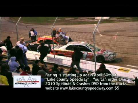 lake county speedway crash video