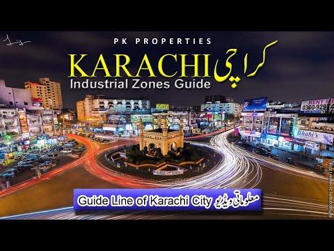 Karachi Map   کراچی Industrial Areas Details  KARACHI Population World's 7th Largest City   2020