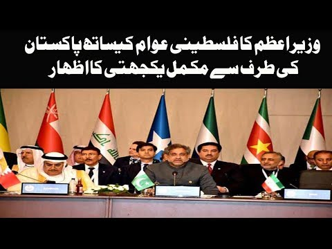 PM Pakstan Shahid Khaqan Abbasi reiterates Pakistan's support for Palestinian state | OIC Summit