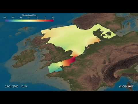 Tidal Wave Propagation - North Sea And English Channel