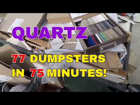 REAL TIME - THE NORTHERN ROUTE - 77 Dumpsters In 75 Minutes! Dumpster Diver Motorcycle & Scrap Metal