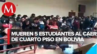 En Bolivia, mueren 5 estudiantes tras caer desde un cuarto piso; barandal se rompió