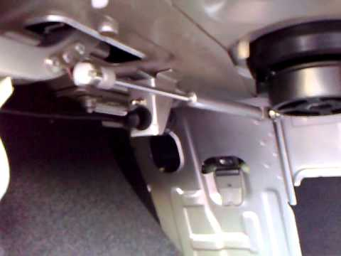 Установка амортизаторов на открытие багажника Шевролет Авео - YouTube