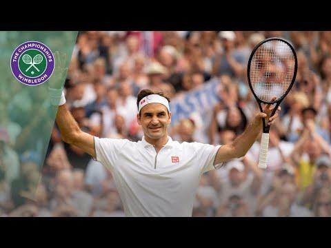 Roger Federer vs Lucas Pouille Wimbledon 2019 third round highlights