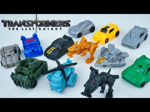 TRANSFORMERS THE LAST KNIGHT TINY TURBO ONE STEP CHANGERS BLIND BAGS 12 SURPRISE TOYS SERIES 1