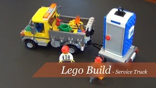 Lego City Service Truck Set #60073 - Unboxing And Build