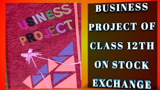 Business Project on Stock Exchange