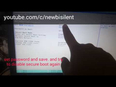 How To Disabled Secure Boot ACER #2