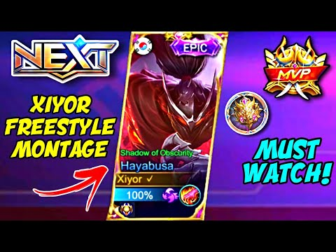 XIYOR HAYABUSA BEST FREESTYLE COMBOS | THE MOST AGGRESSIVE HAYABUSA MONTAGE YOU'LL EVER SEE! | MLBB