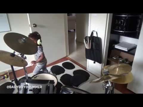 2yr old drum prodigy LJ going through different beats