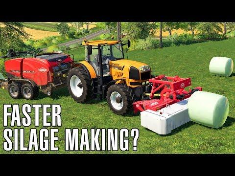 FASTER SILAGE MAKING? | Farming Simulator 19 thumbnail