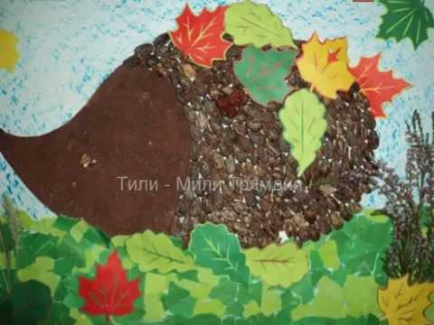 Поделки из арбузных семечек и пластилина - Юлия 64