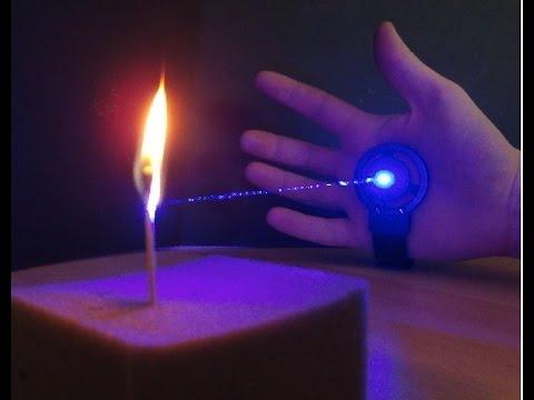 Blue burning Laser Glove Mk III
