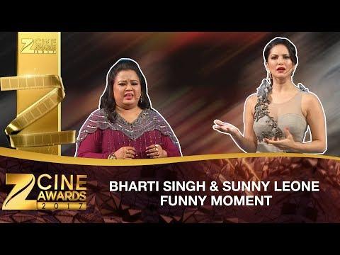 Bharti Singh & Sunny Leone | Funny Moments | Zee Cine Awards 2017