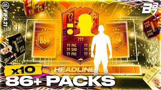 INSANE INFORM PACKED! X 10 86+ UPGRADE PACKS! | FIFA 21 ULTIMATE TEAM