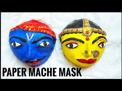 Paper mache mask || best out of waste craft ||home decor tribal mask
