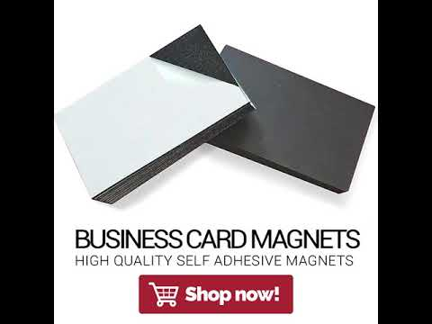 Self adhesive business card magnets from flexible magnets youtube self adhesive business card magnets from flexible magnets colourmoves